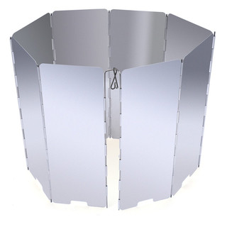 Wind Protection for Gas Stoves, foldable, Aluminum