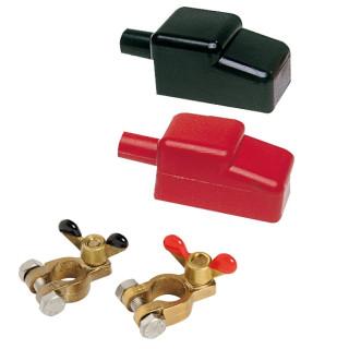 Batteriepolklemmen Und Abdeckungen Vierteiliges Set
