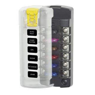 BlueSea 5028 Sicherungskasten mit 6 Stromkreisen für KfZ Flachsicherungen