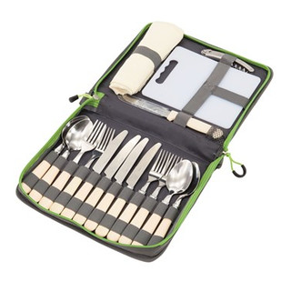 cutlery in pouch for 4 people