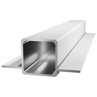 Aluminiumprofil 25x25x1.5 mm with 2 bridges, 195cm,...