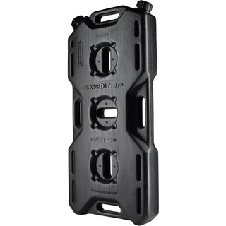 Jerry can extreme drive (14l), 2 necks, black,  for water, fuels, etc.