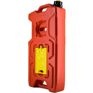 Jerry can extreme kombi (10l+0.35l+0.35l) with integrated Hi-Lift base red, for water, fuels, etc.