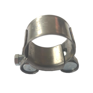 Strengthened Clamp for exhaust pipe For Diameter: Ø 26-28 mm / W2 stainless steel