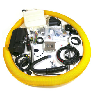 1% Camper-Kit - complete heating installation set with 4kW, 24V, rotary control unit, 48 mm flange