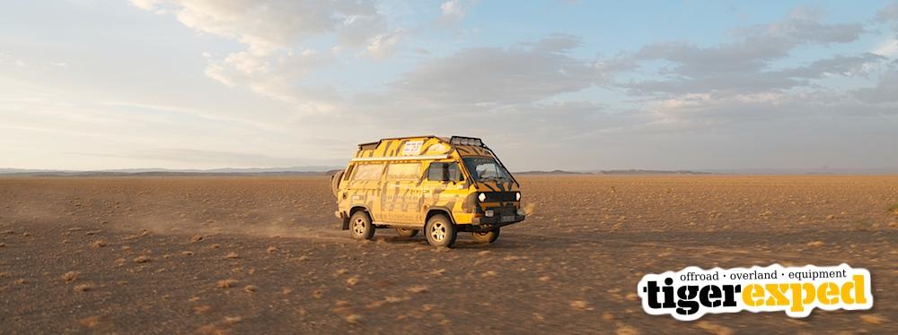 Tigerexped Tigerbus in der Mongolei, Wüste Gobi